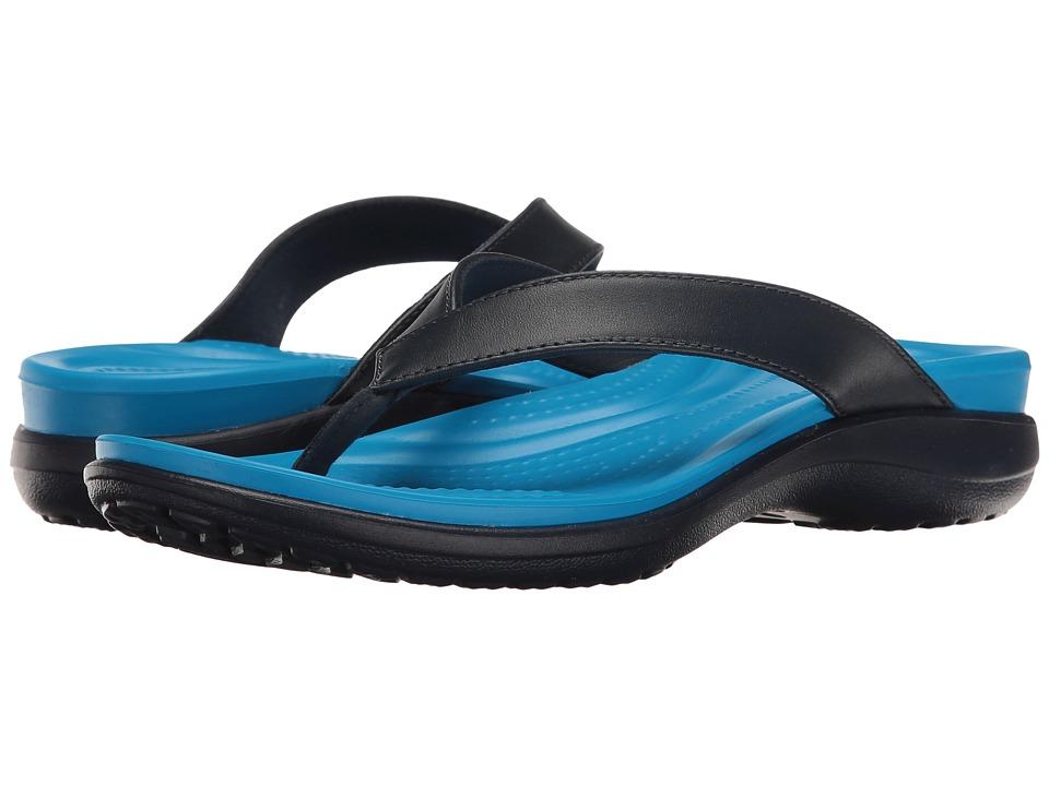Crocs - Capri V Flip (Navy/Ocean) Women's Sandals