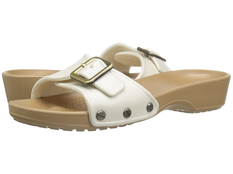 Crocs - Sarah Sandal (Oyster/Gold) Women's Sandals