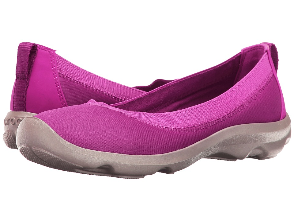 Crocs - Busy Day Stretch Flat (Vibrant/Violet) Women's Flat Shoes