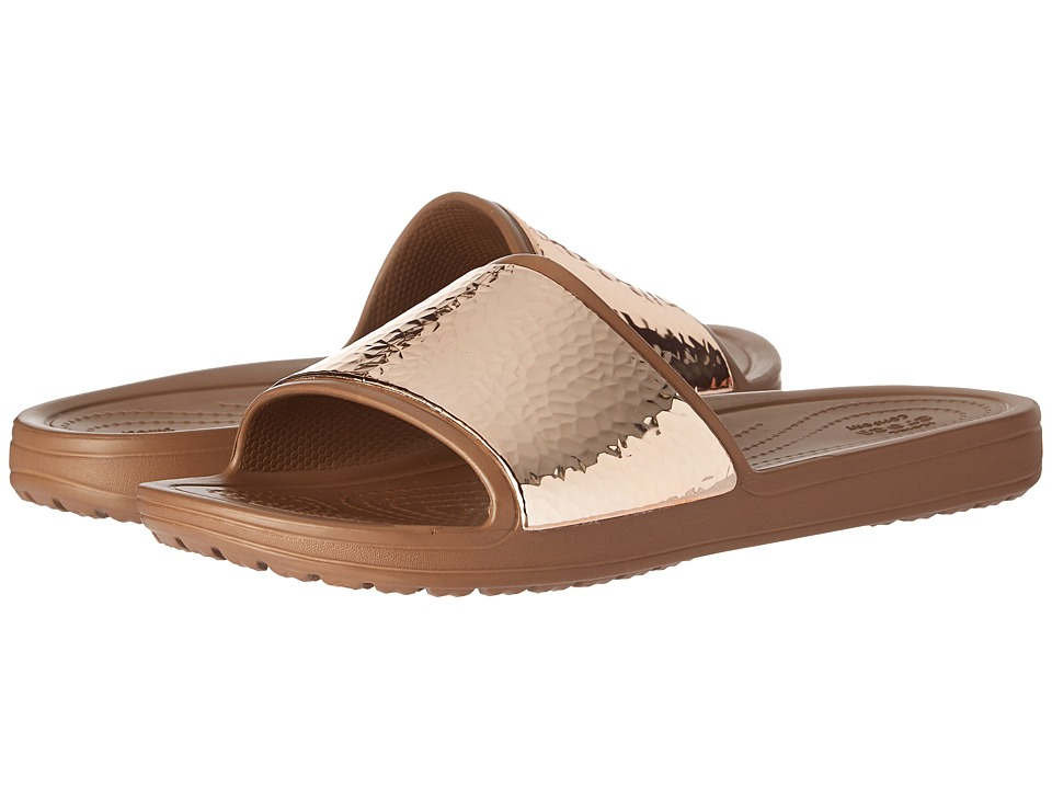 Crocs - Sloane Embellished Slide (Bronze/Bronze) Women's Slide Shoes