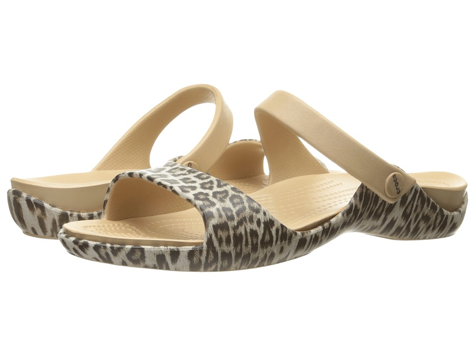 Crocs - Cleo V Graphic (Leopard/Black) Women's Shoes