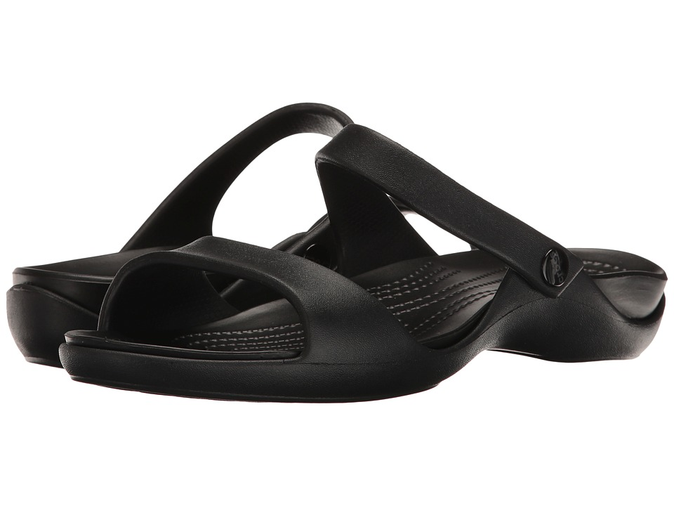 Crocs - Cleo V (Black/Black) Women's Shoes