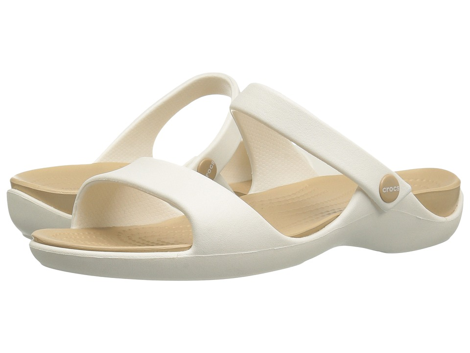 Crocs - Cleo V (Oyster/Gold) Women's Shoes
