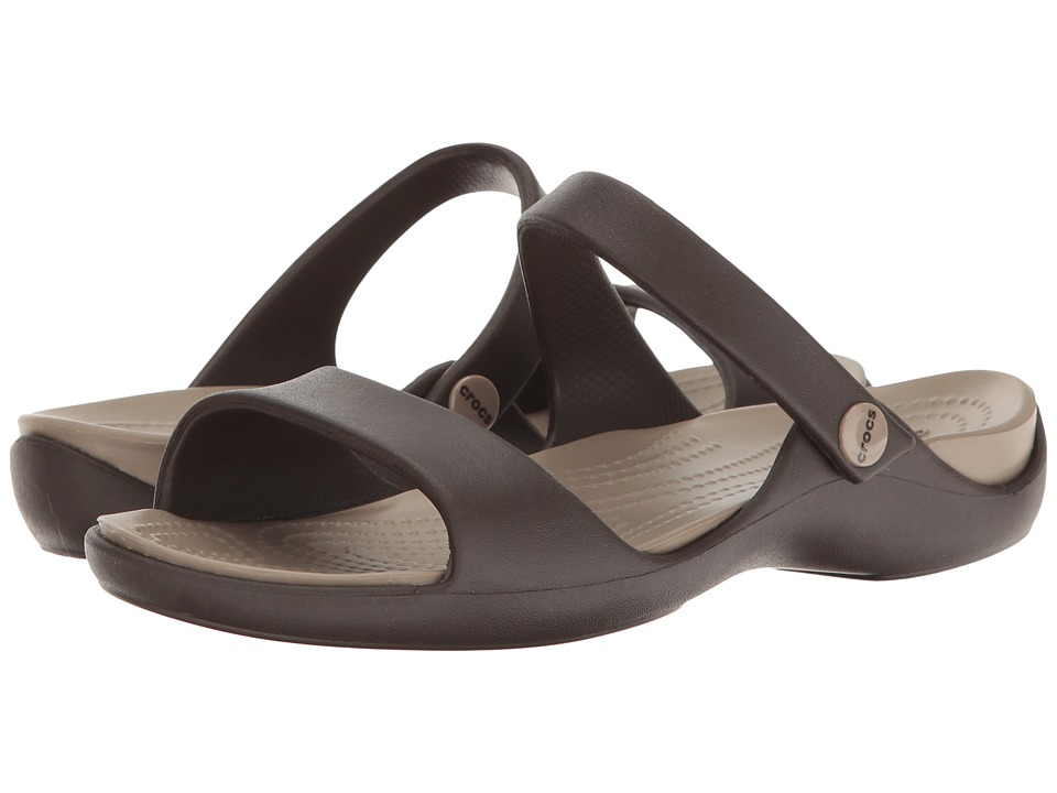 Crocs - Cleo V (Espresso/Mushroom) Women's Shoes