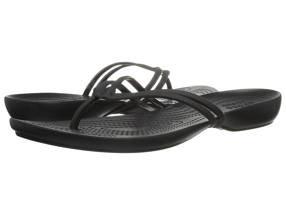Crocs - Isabella Flip (Black/Black) Women's Sandals