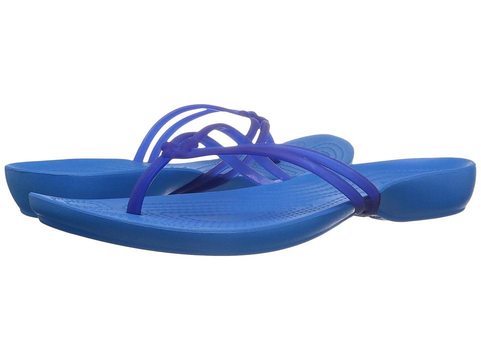 Crocs - Isabella Flip (Cerulean Blue/Ocean) Women's Sandals
