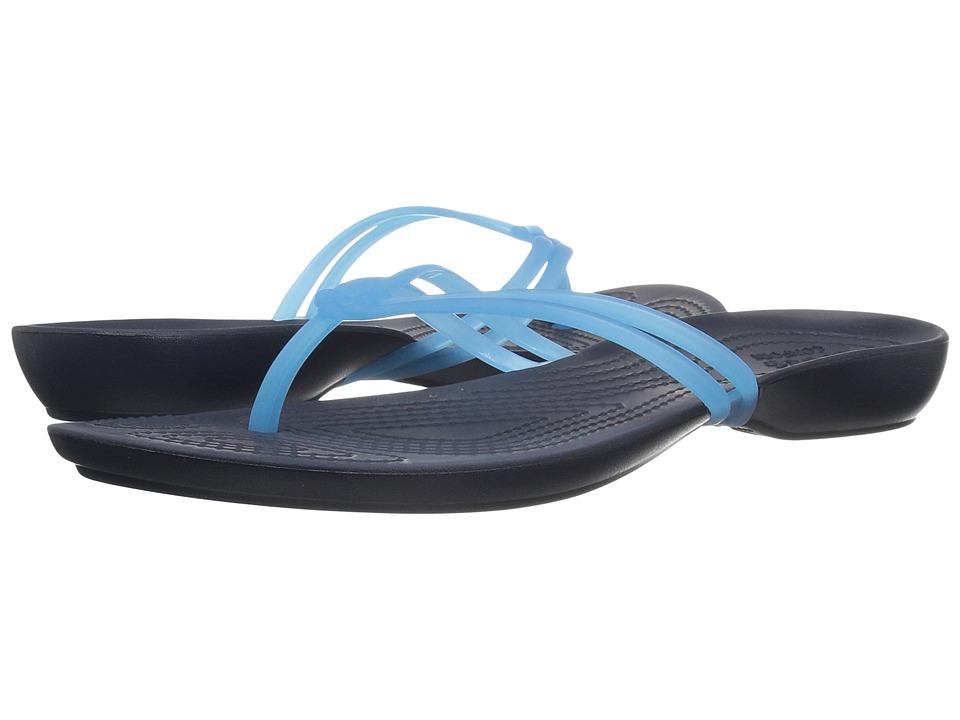 Crocs - Isabella Flip (Electric Blue/Navy) Women's Sandals
