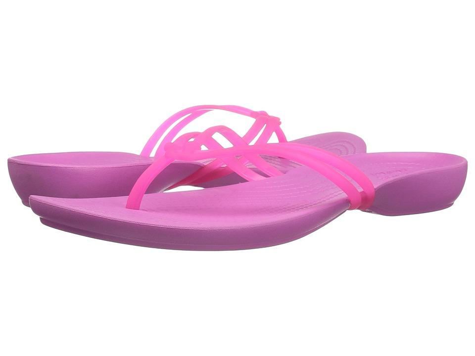 Crocs - Isabella Flip (Vibrant Pink/Party Pink) Women's Sandals