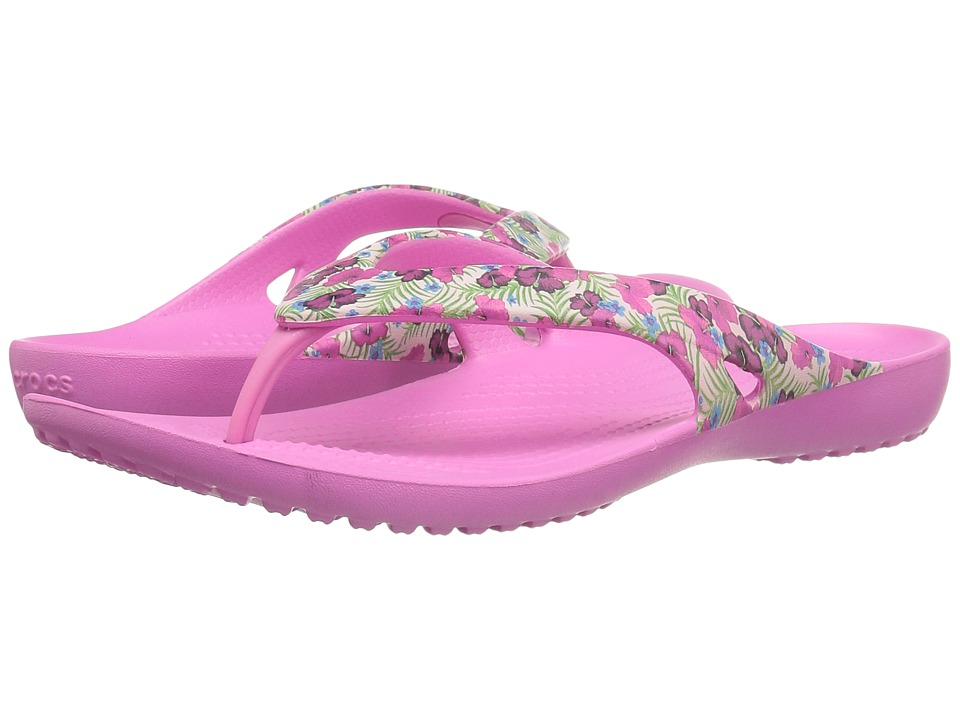 Crocs - Kadee II Graphic Flip (Pink/Floral) Women's Sandals