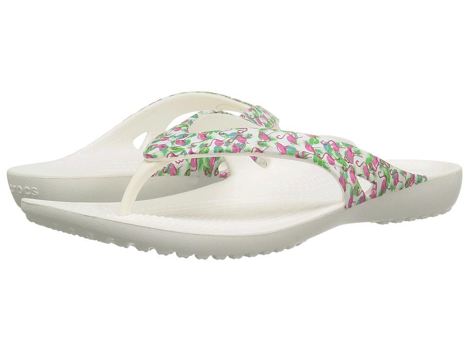Crocs - Kadee II Graphic Flip (Flamingo) Women's Sandals