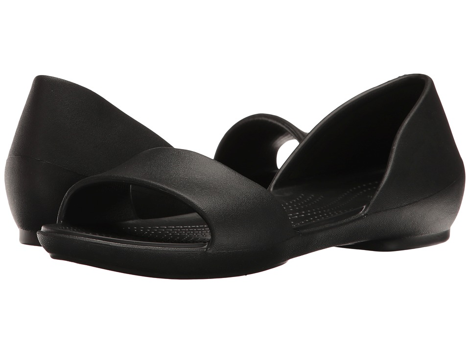 Crocs - Lina D'Orsay (Black) Women's Shoes