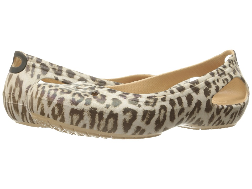 Crocs - Kadee Graphic Flat (Leopard) Women's Shoes