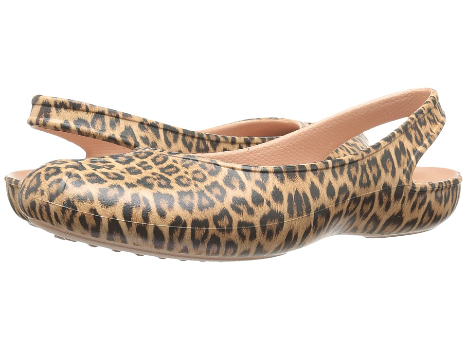 Crocs - Olivia II Graphic (Leopard) Women's Shoes