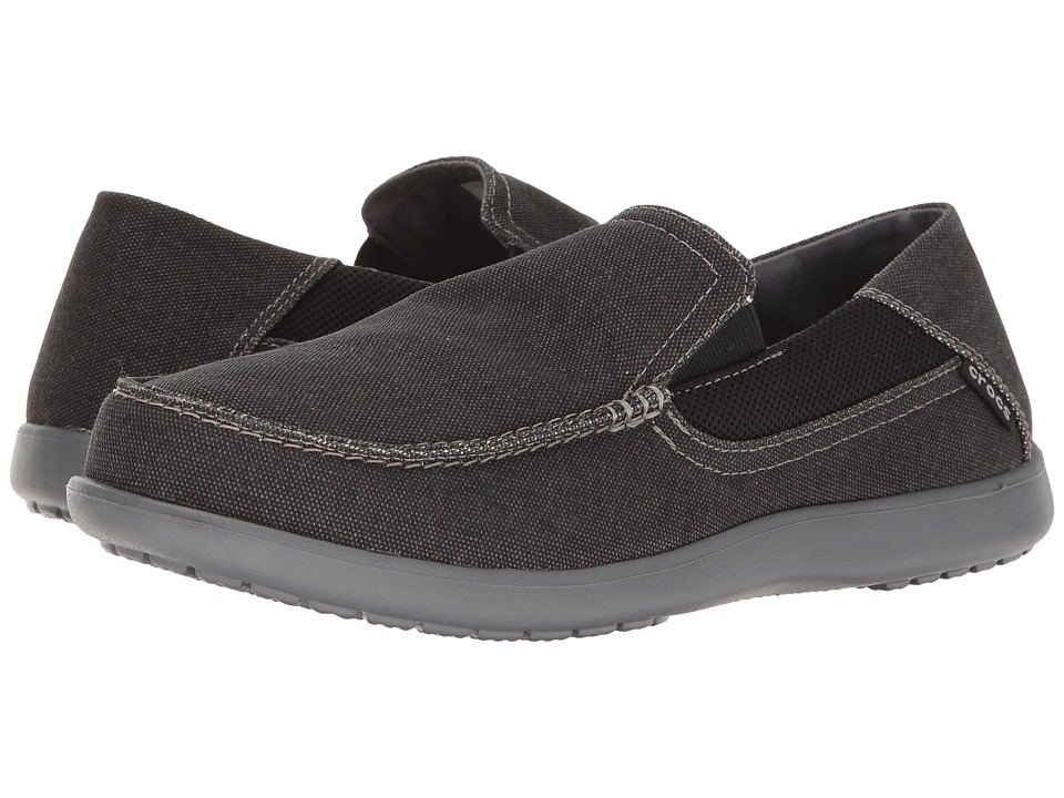 Crocs - Santa Cruz 2 Luxe (Black/Charcoal) Men's Shoes