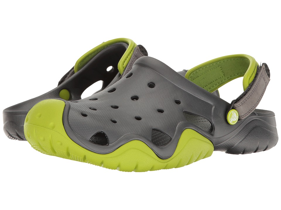 Crocs - Swiftwater Clog (Volt Green/Graphite) Men's Clog Shoes