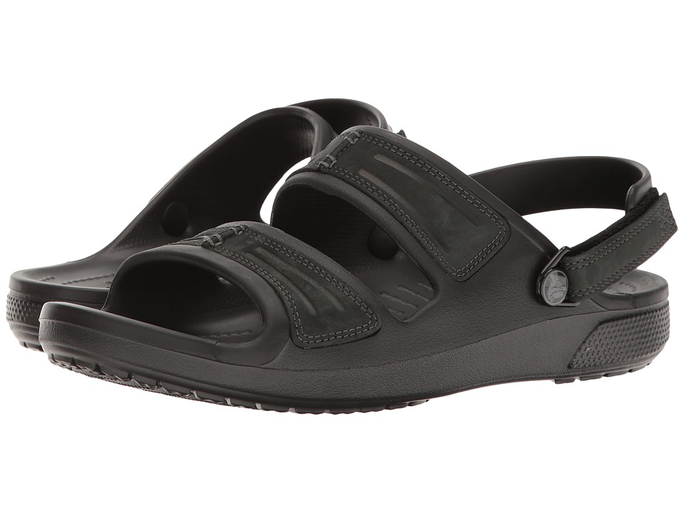 Crocs - Yukon Mesa Sandal (Black/Black) Men's Sandals