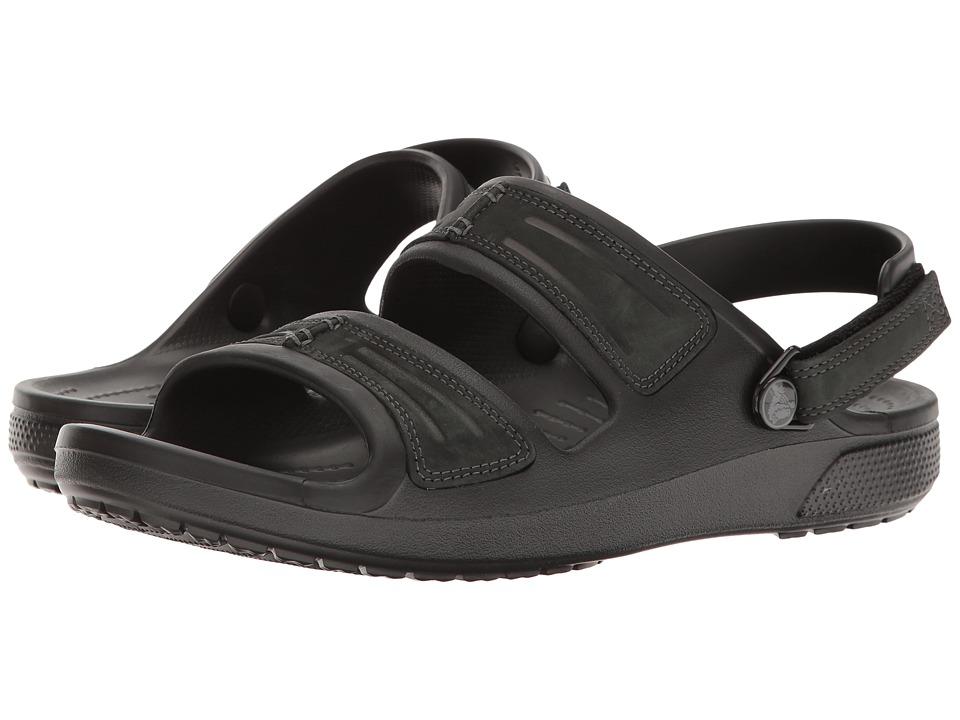 Crocs - Yukon Mesa Sandal (Black/Black) Men's Sandals