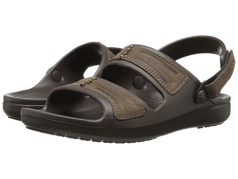 Crocs - Yukon Mesa Sandal (Espresso/Espresso) Men's Sandals
