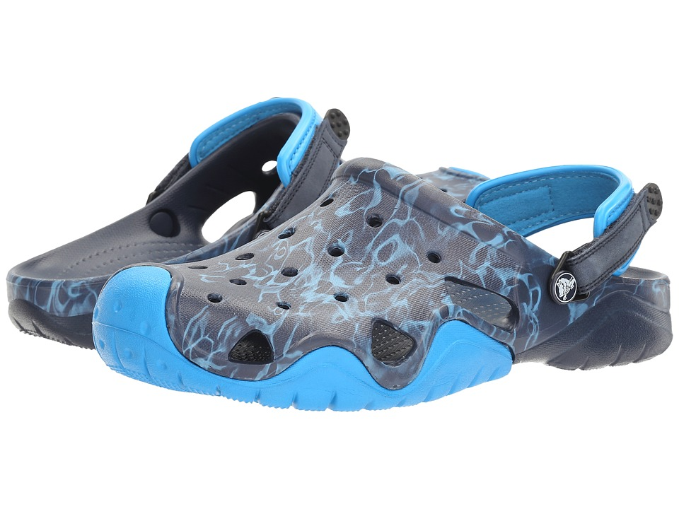 Crocs Swiftwater Graphic Clog (Navy/Ocean) Men