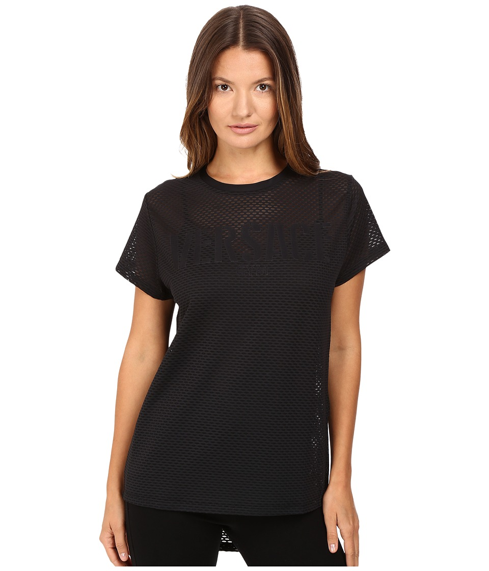 Versace Short Sleeve Mesh Tee (Nero) Women