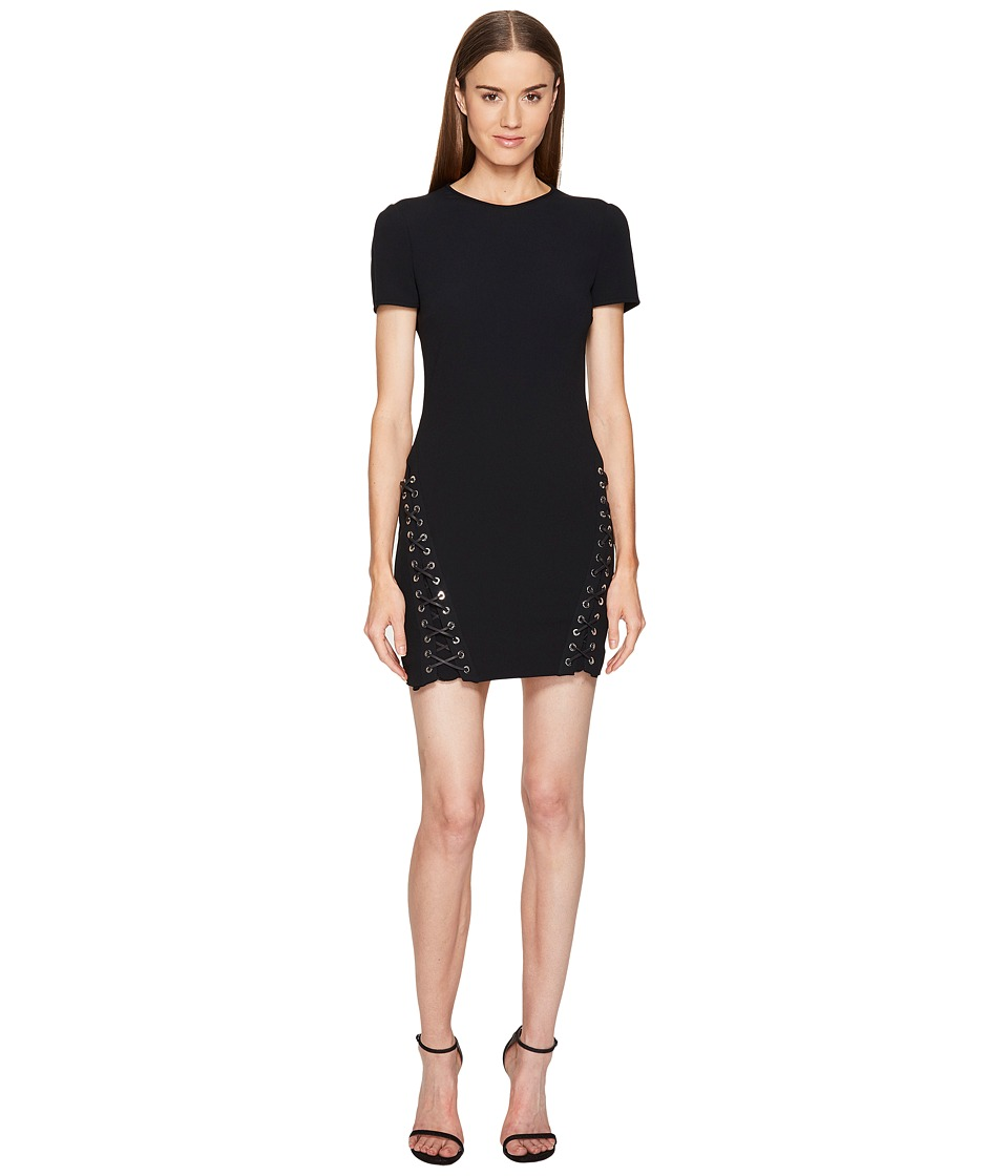 DSQUARED2 - Boot Lacing Short Sleeve Dress (Black) Women's Dress