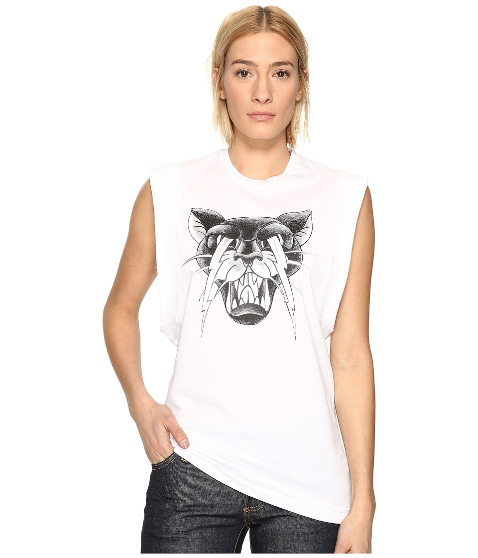 DSQUARED2 - Renny Fit Cat Muscle T-Shirt (White) Women's T Shirt