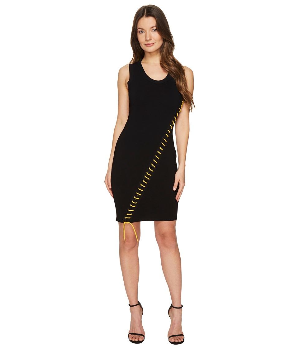 DSQUARED2 Skin Biker Sleeveless Dress (Black) Women