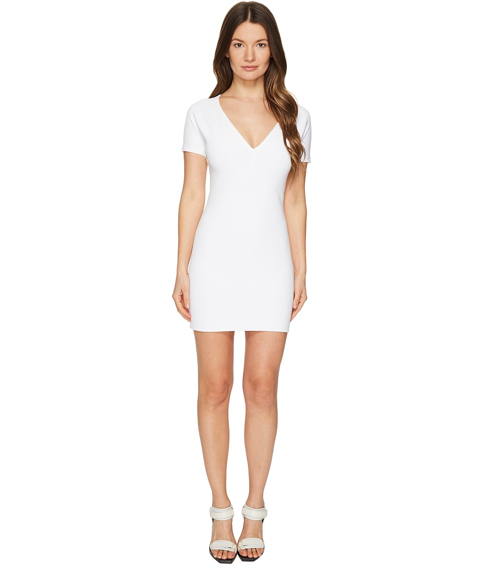 DSQUARED2 Viscose Piquet Jersey Short Sleeve Dress (White) Women