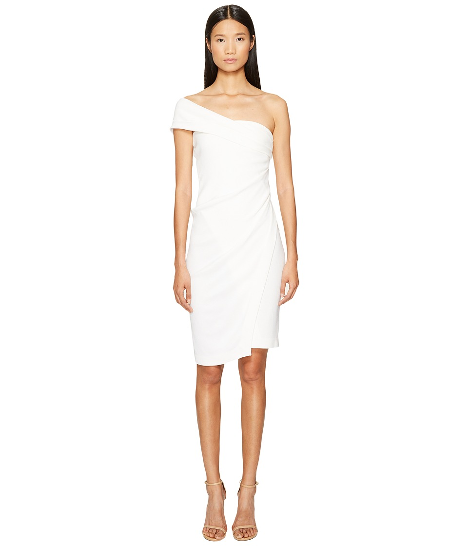 DSQUARED2 - Textured Viscose Jersey One Shoulder Dress (White) Women's Dress