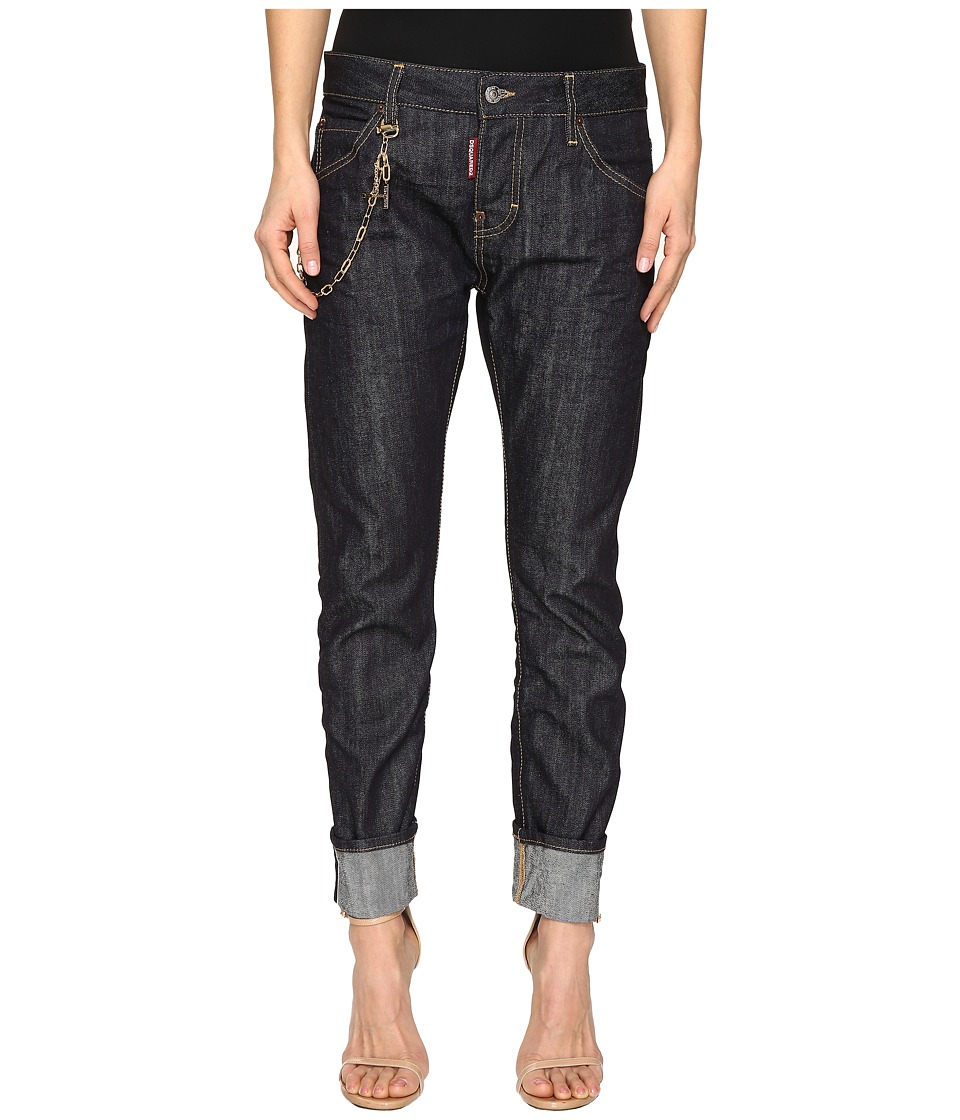 DSQUARED2 - Skin Hibird Pants Five-Pockets (Blue) Women's Casual Pants