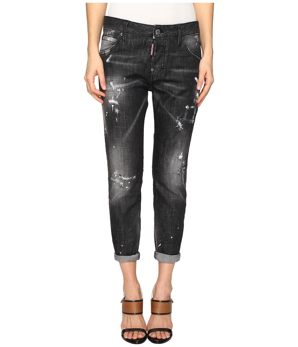DSQUARED2 - Skin Biker Pants Five-Pockets (Black) Women's Casual Pants