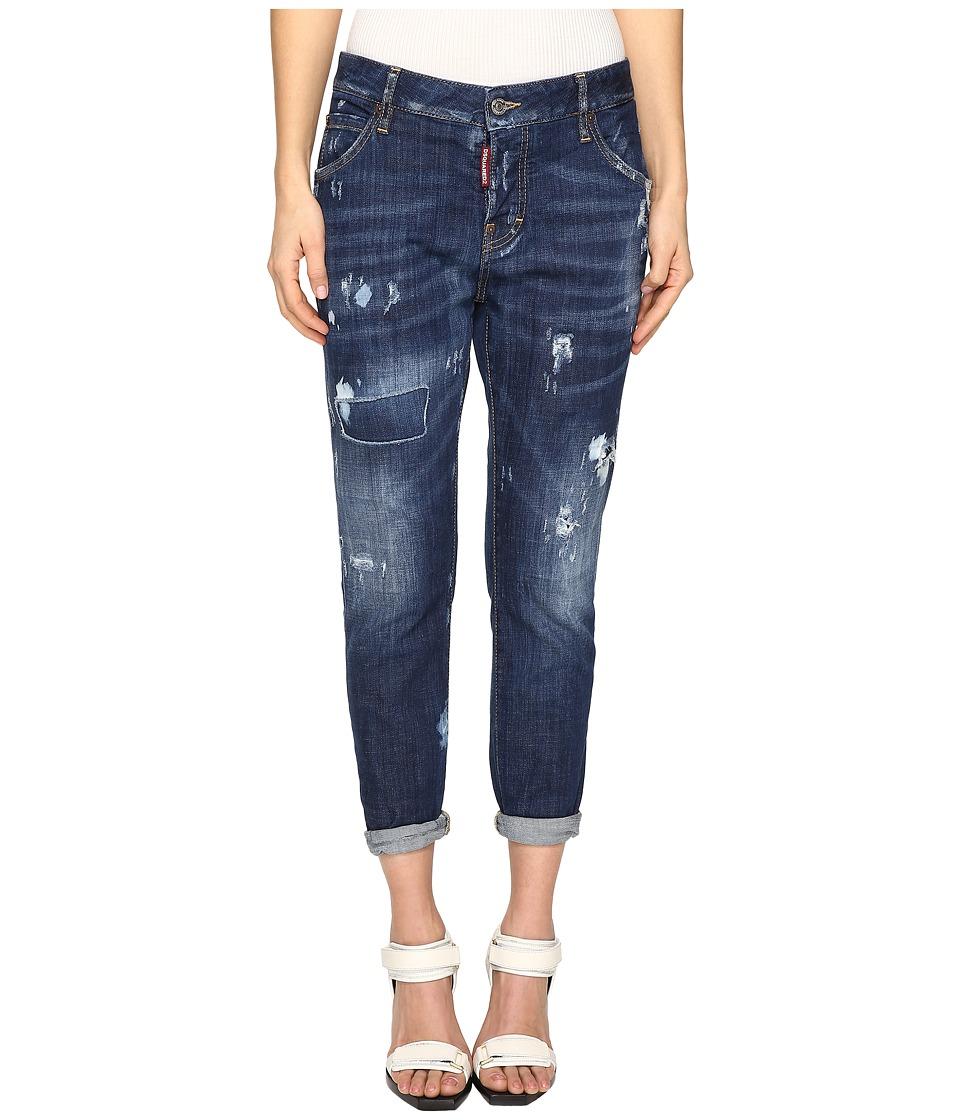 DSQUARED2 - Cool Girl Jeans Skin Biker Pants Five-Pockets in Blue (Blue) Women's Jeans