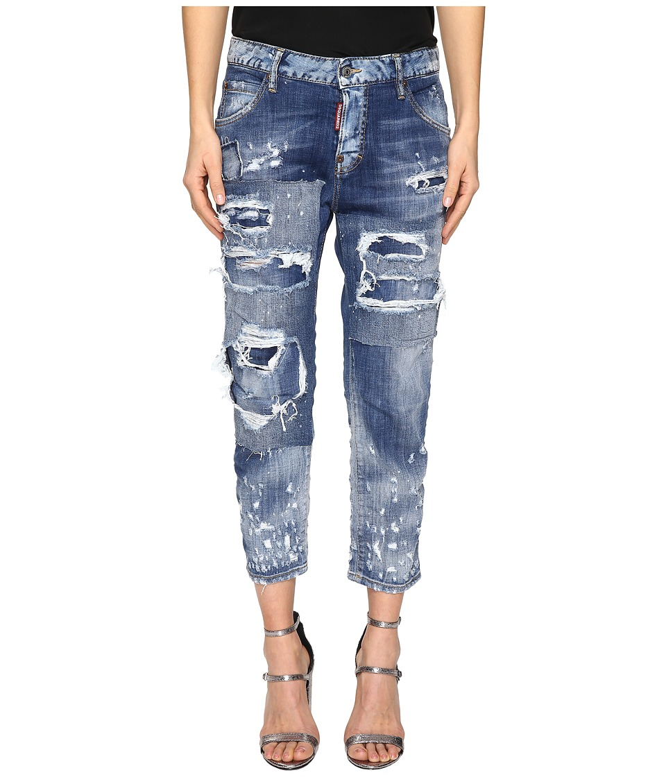 DSQUARED2 - Cool Girl Cropped Jeans in Blue (Blue) Women's Jeans