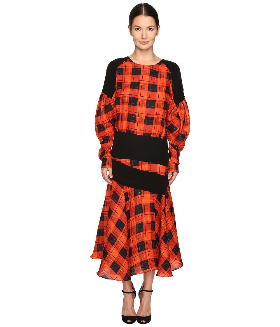 Preen by Thornton Bregazzi Luke Printed Hammered Silk Dress