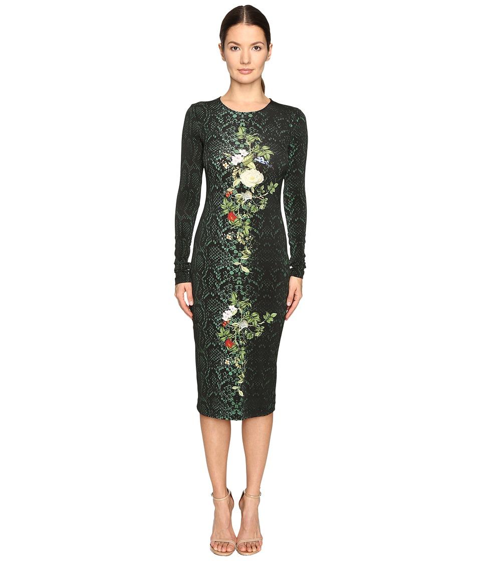 Preen by Thornton Bregazzi Amos Printed Jersey Dress (Emerald Python) Women