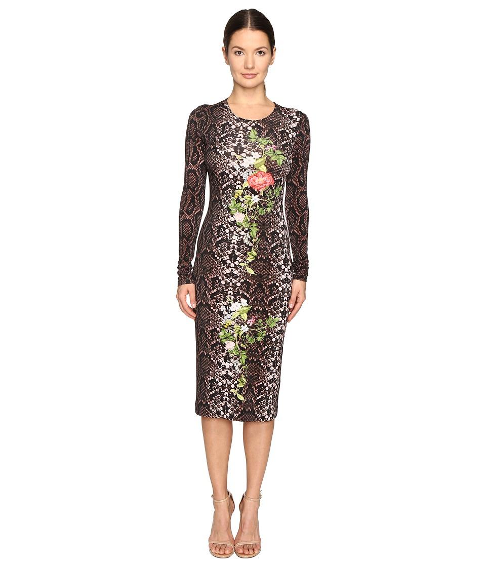Preen by Thornton Bregazzi - Amos Printed Jersey Dress (Rose Python) Women's Dress