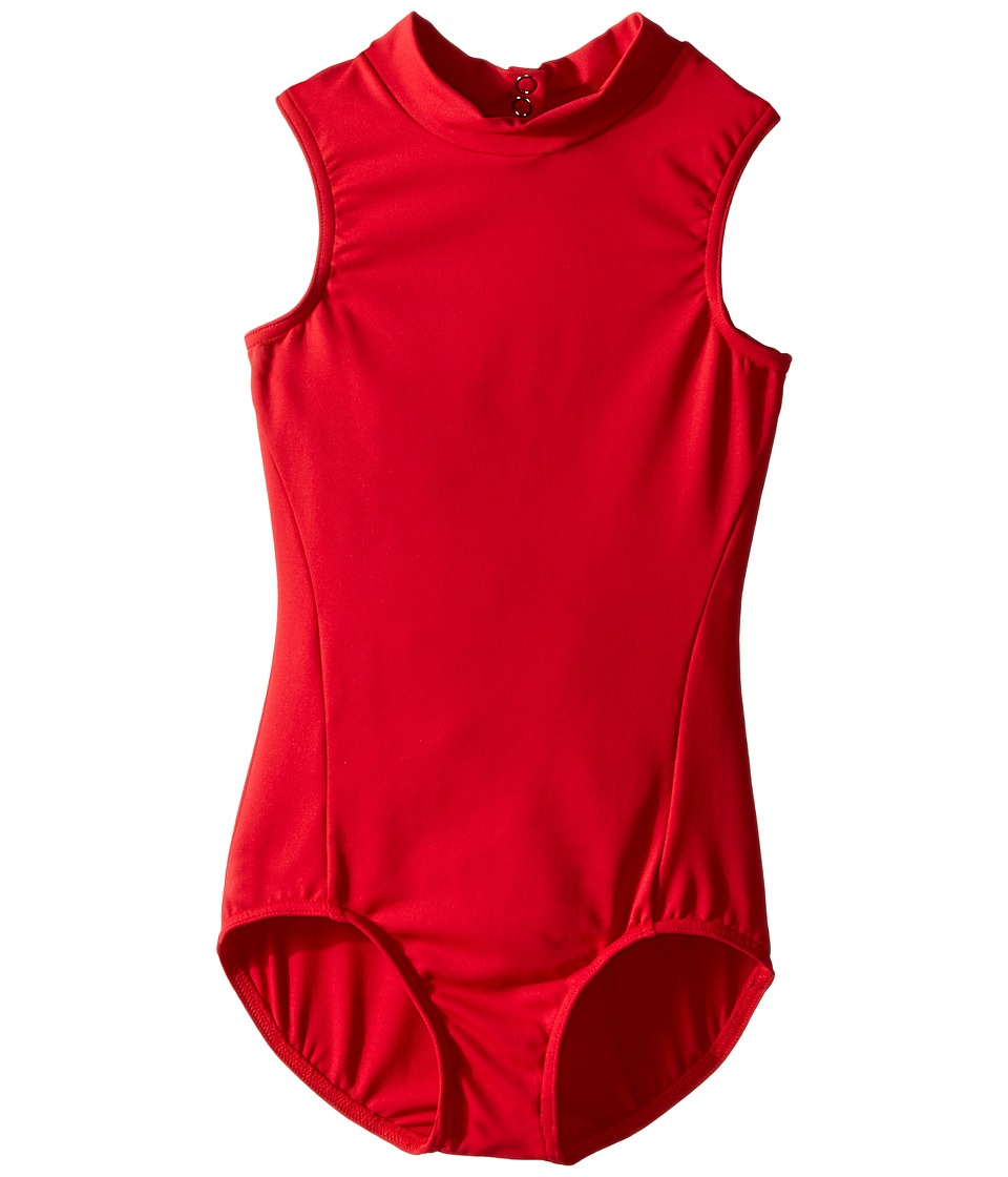 Capezio Kids - Tactel Polo Neck Leotard (Little Kids/Big Kids) (Scarlet) Girl's Jumpsuit & Rompers One Piece