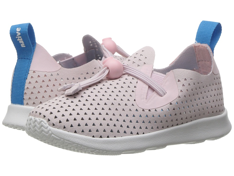 Native Kids Shoes Apollo Moc XL Perforated (Toddler/Little Kid) (Milk Pink/Shell White/Triangle Perf) Girls Shoes