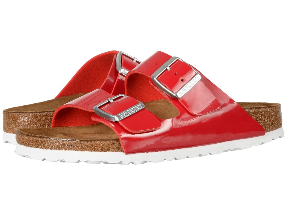 Birkenstock - Arizona (Tango Red Birko-Flor) Women's Shoes