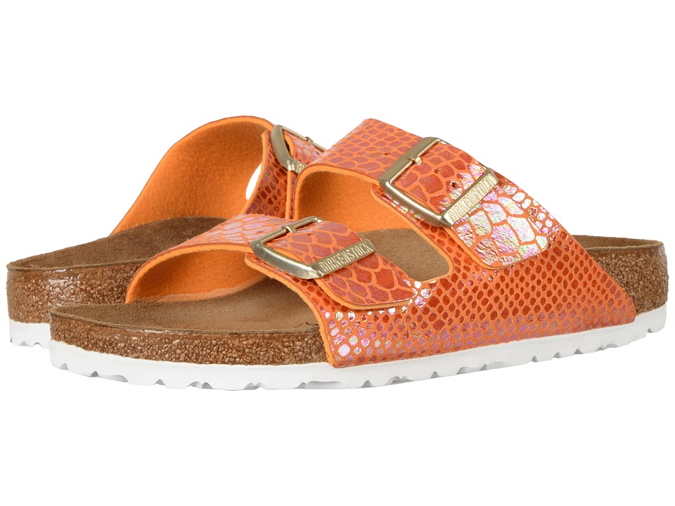 Birkenstock - Arizona (Shiny Snake Orange Birko-Flor) Women's Dress Sandals