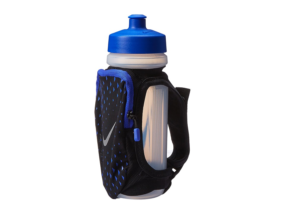 Nike - Large Handheld Bottle 22oz (Black/Paramount Blue/Silver) Athletic Sports Equipment