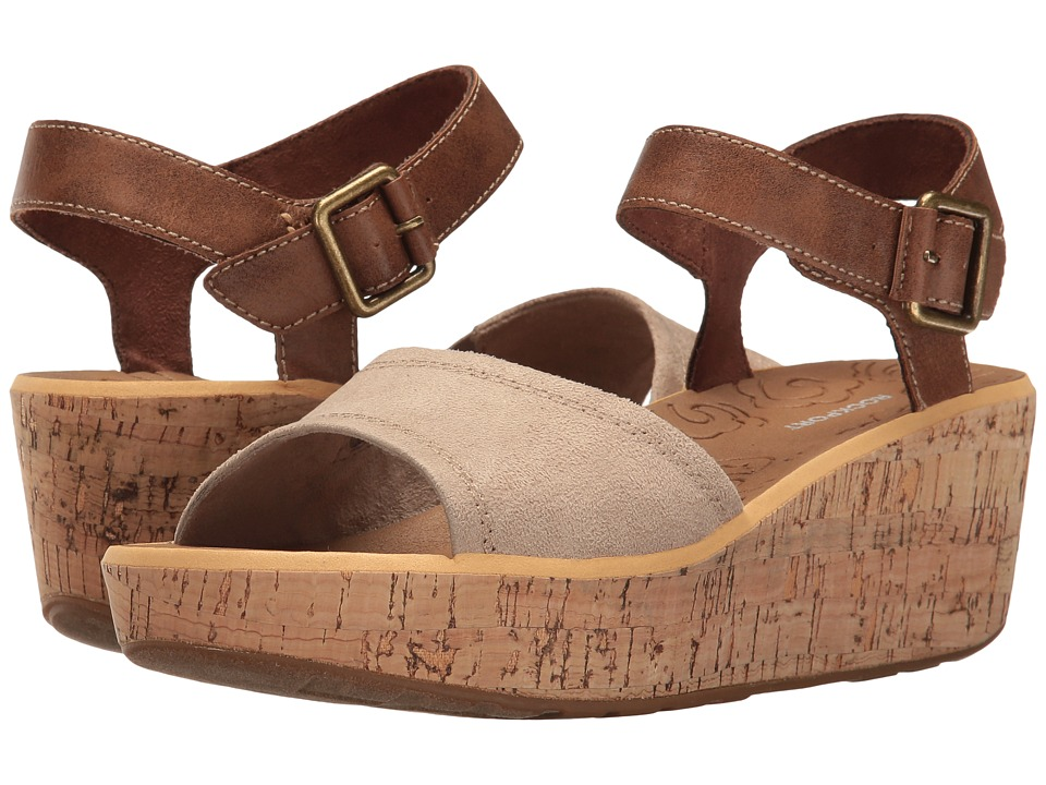 Rockport - Lanea Ankle Strap (Taupe Faux Suede) Women's Shoes