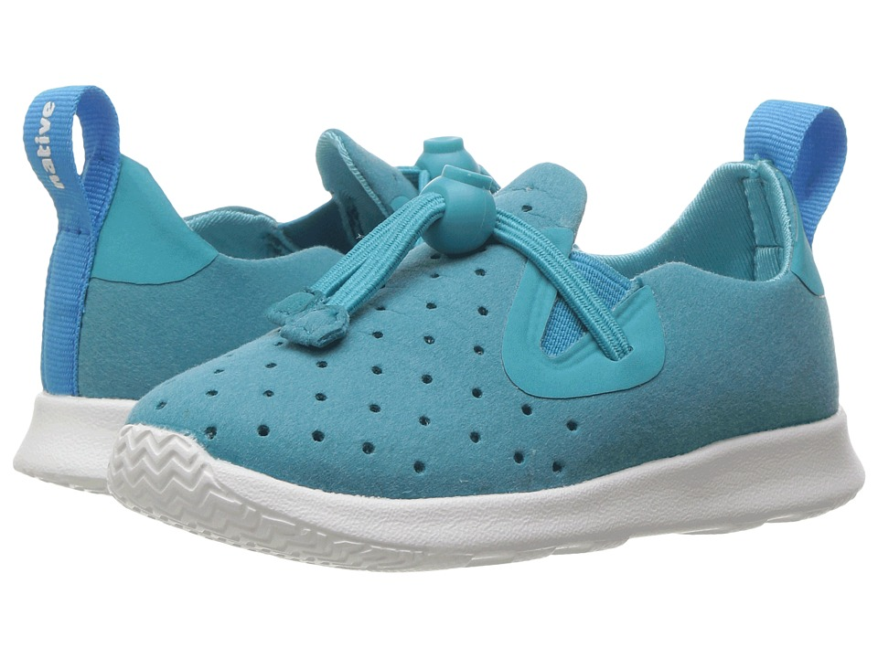 Native Kids Shoes - Apollo Moc (Toddler/Little Kid) (Iris Blue/Shell White) Kids Shoes