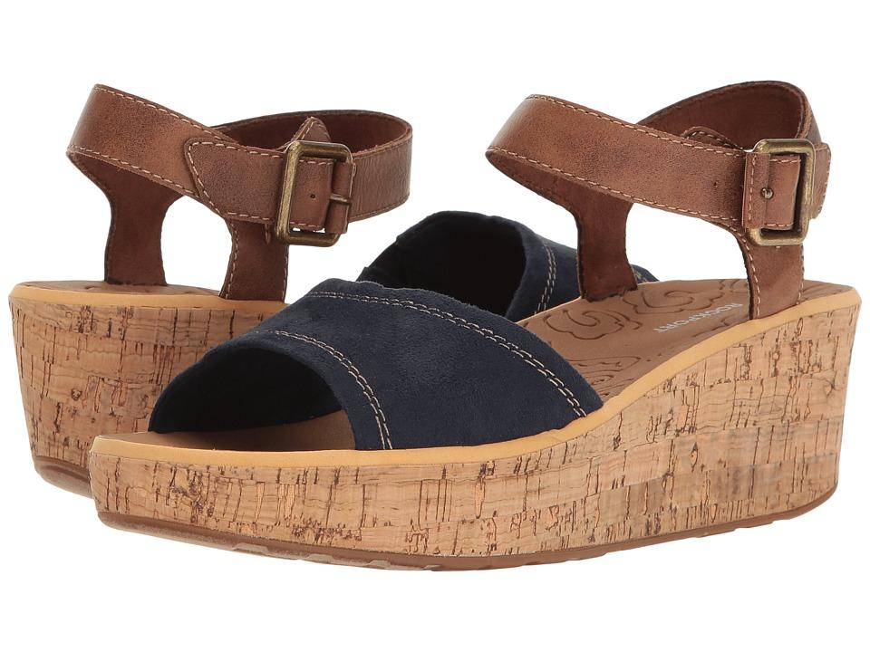 Rockport - Lanea Ankle Strap (Navy Faux Suede) Women's Shoes