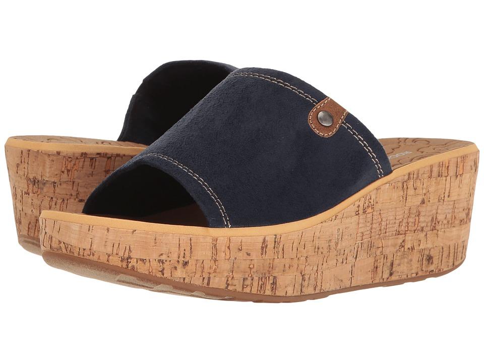 Rockport - Lanea Slide (Navy Faux Suede) Women's Shoes