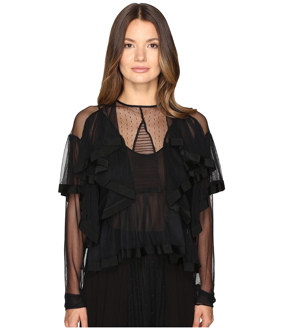 Preen by Thornton Bregazzi - Elvina Top (Black) Women's Clothing