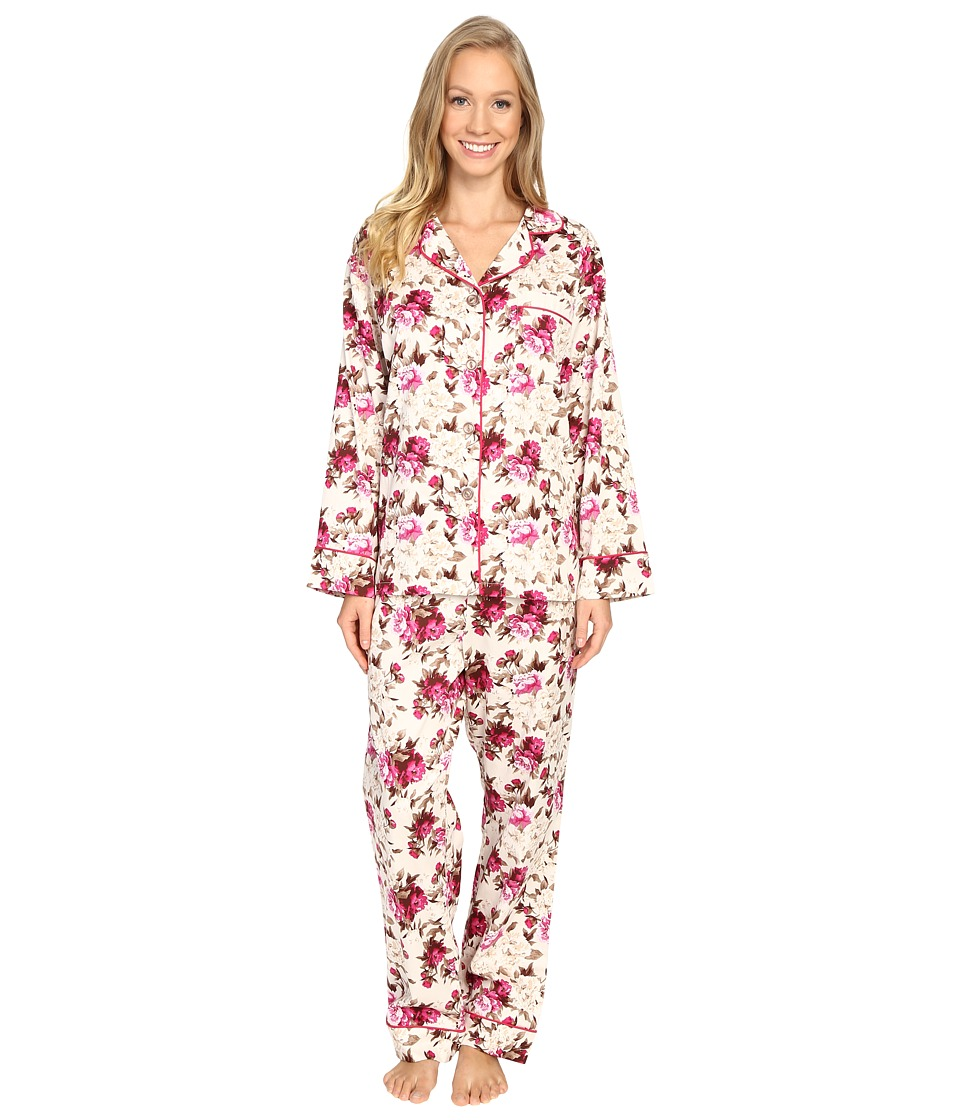 BedHead - Long Sleeve Classic Pajama Set (Ashes of Roses) Women's Pajama Sets