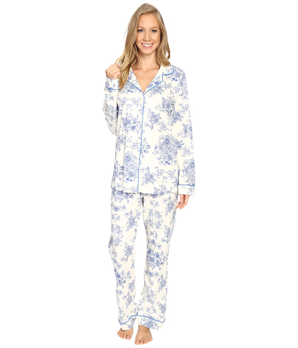 BedHead - Long Sleeve Classic Pajama Set (Mystery Garden) Women's Pajama Sets