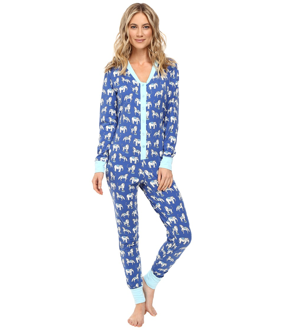 BedHead - Long Sleeve Classic One-Piece (Navy Three Ring Ciricus) Women's Jumpsuit & Rompers One Piece