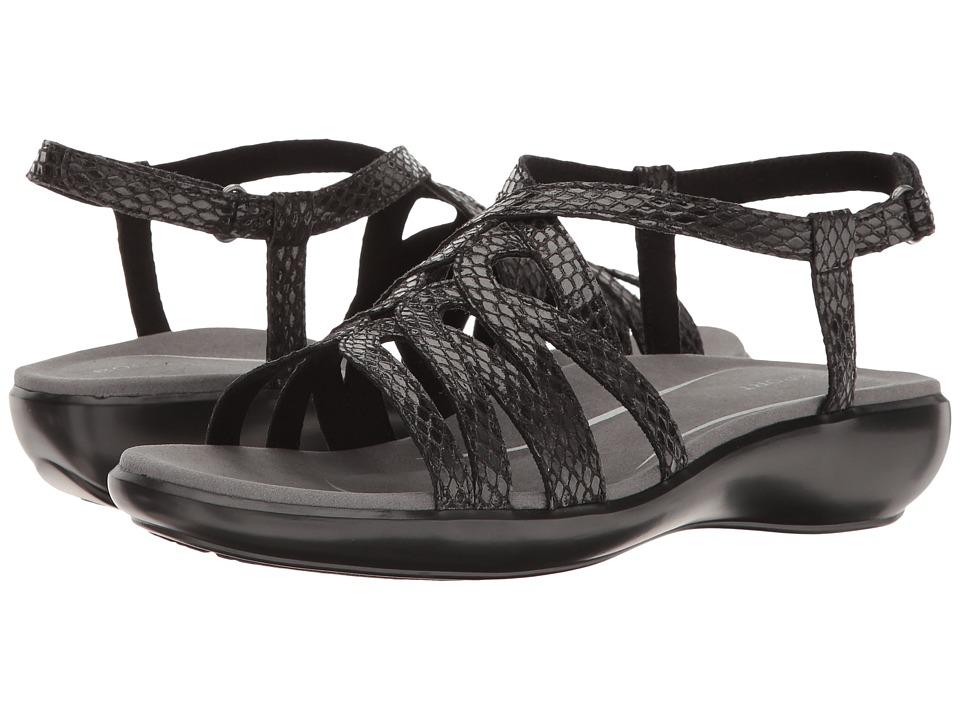 Rockport - Rozelle Caged (Black Snake) Women's Shoes
